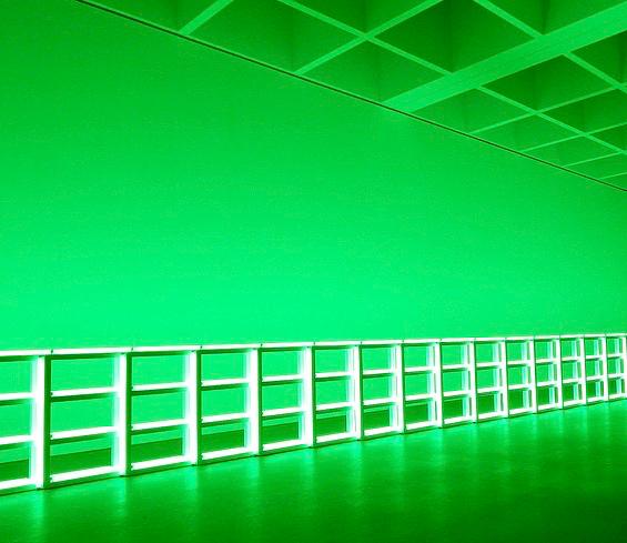 Lichtinstallation, Farben als Licht, Farben-Liebe, Sukzessivkontrast, Farbe im Nachbild