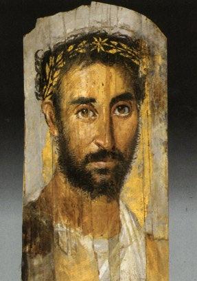 Malen lernen - Enkaustik - antike Wachsmalerei - Mann mit Kranz