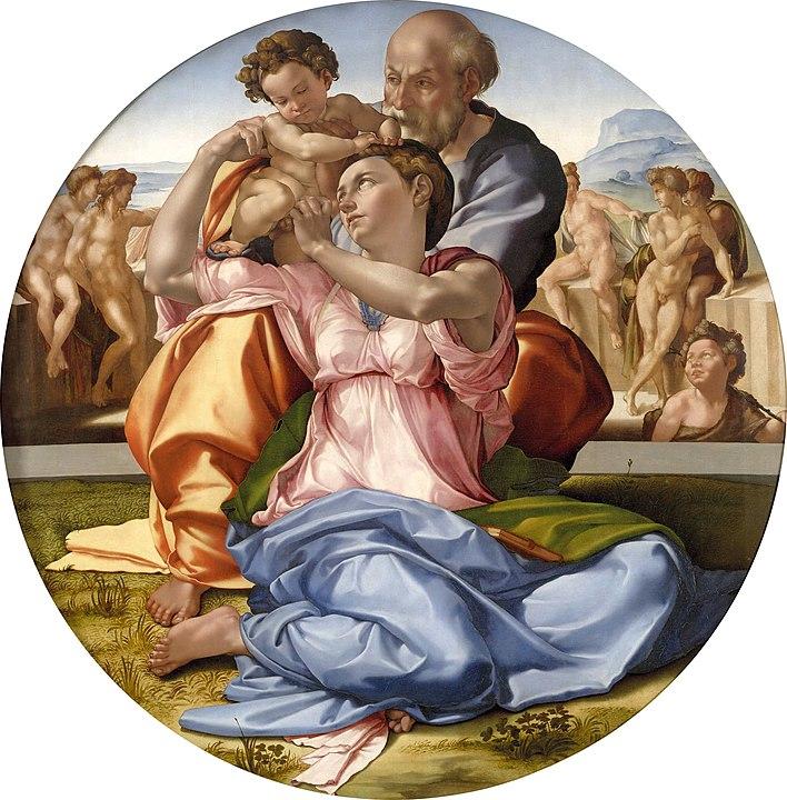 Malen lernen: Farbkontraste und menschliche Figur, Michelangelo