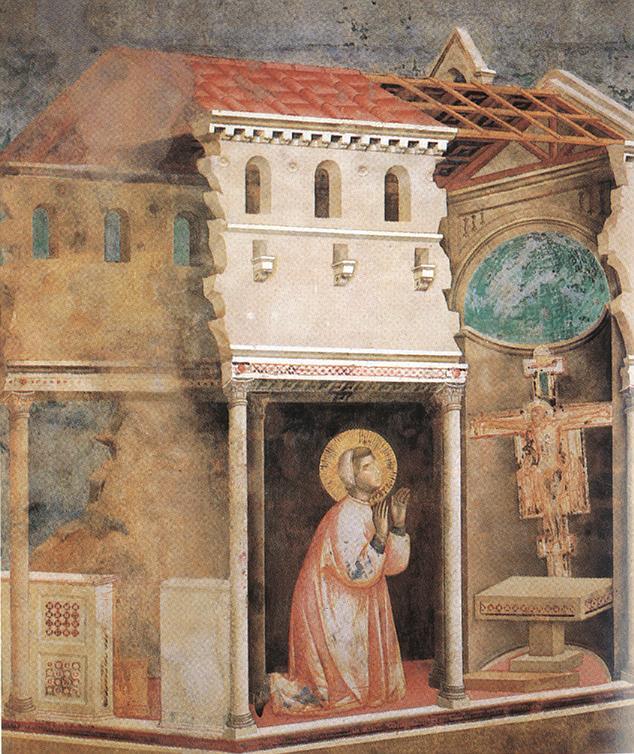 Malen lernen - Giotto Mittelalter - Raum durch Architektur und Farbe
